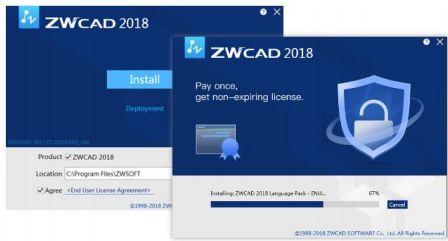 Skrócony proces instalacji w ZWCAD 2018