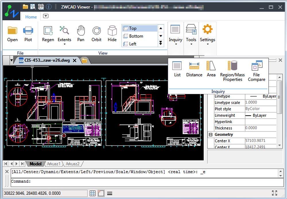 Przeglądarka plików CAD Viewer